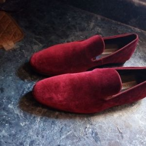 Maroon Suede Steve Madden Loafers